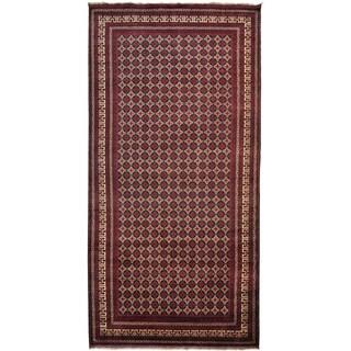Handmade Wool Burgundy Traditional Oriental Rectangle Rug (11' & Up)