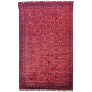 Handmade Wool Red Traditional Oriental Rectangle Rug (11' & Up)