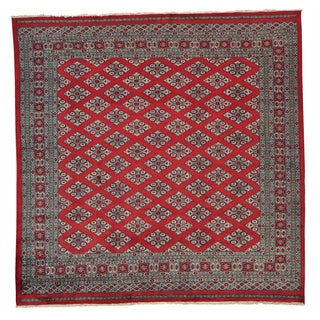 Handmade Wool Red Traditional Oriental Square Rug (8' x 8')