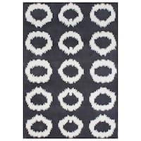 Handmade Alliyah Black Olive New Zealand Blend Wool Rug - 5' x 8'