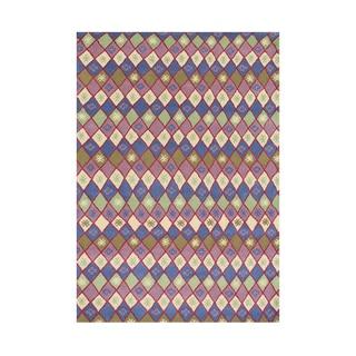 Alliyah Handmade Carmine Rose New Zealand Blend Wool Rug (5' x 8')