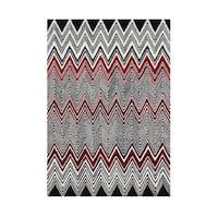 Handmade Alliyah Black New Zealand Wool Rug (5x8)