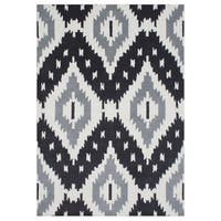 Alliyah Handmade Steel Grey New Zealand Blend Wool Rug - 5' x 8'