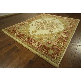 New Elegant Hand Knotted Wool Floral Heriz Serapi Oriental Area Rug (8'2 x 10'7)
