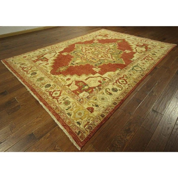 Vintage Persian Bokhara Wool Area Rug 10 X 13: Shop New Traditional Heriz Serapi Oriental Hand Knotted