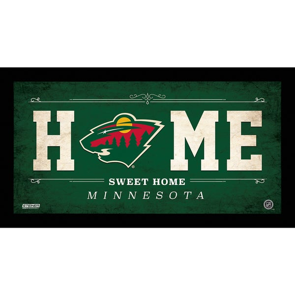 Minnesota Wild 10x20 Home Sweet Home Sign