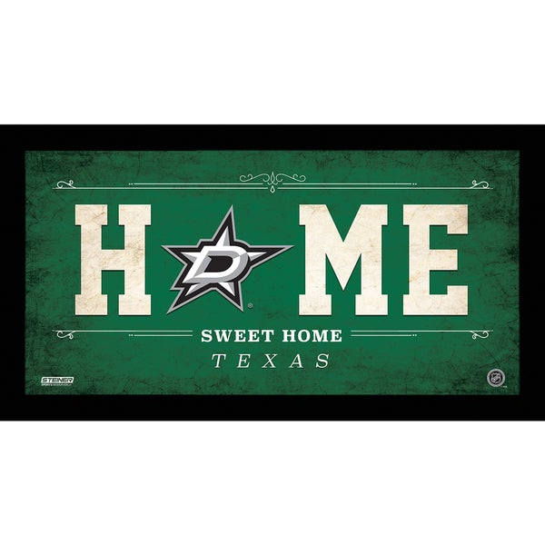 Dallas Stars 10x20 Home Sweet Home Sign