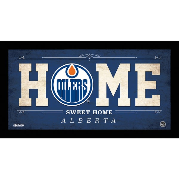 Edmonton Oilers 10x20 Home Sweet Home Sign