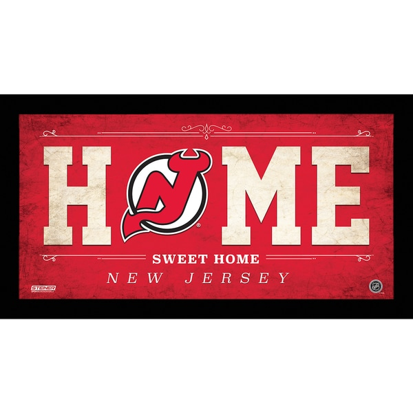 New Jersey Devils 10x20 Home Sweet Home Sign