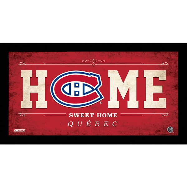Montreal Canadiens 10x20 Home Sweet Home Sign