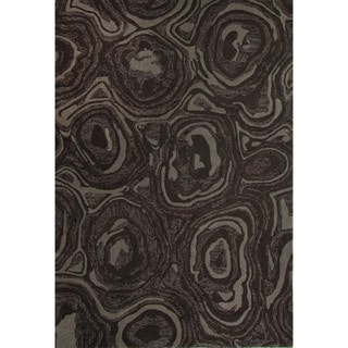 Hand-Tufted Abstract Pattern Paloma/Fungi Wool Area Rug (8x10)