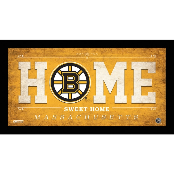 Boston Bruins 10x20 Home Sweet Home Sign