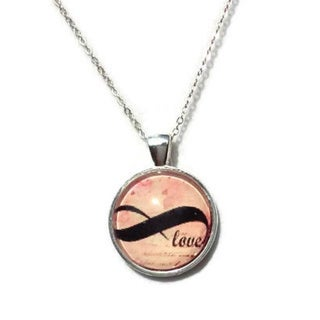 Atkinson Creations Infinity Symbol Glass Dome Necklace