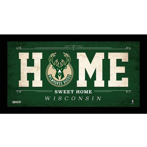 Milwaukee Bucks 10x20 Home Sweet Home Sign