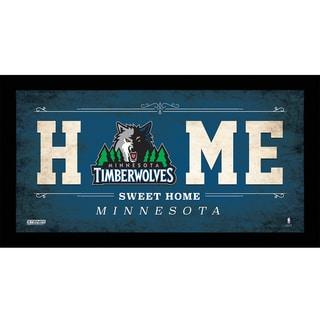 Minnesota Timberwolves 10x20 Home Sweet Home Sign