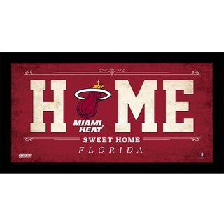 Miami Heat 10x20 Home Sweet Home Sign