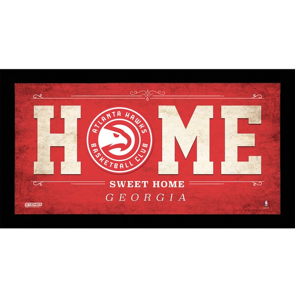 Atlanta Hawks 10x20 Home Sweet Home Sign