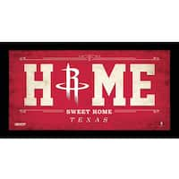 Houston Rockets 6x12 Home Sweet Home Sign