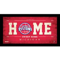 Detroit Pistons 6x12 Home Sweet Home Sign