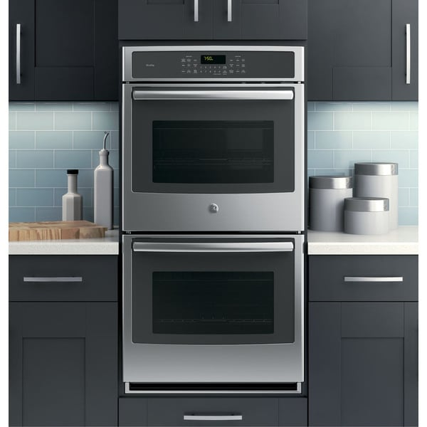Gas Ranges With Double Ovens GE Profile Series 27-inch Built-in Double Convection Wall ...