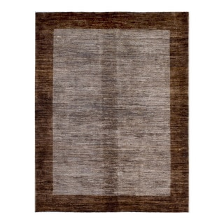 Herat Oriental Afghan Hand-knotted Tribal Vegetable Dye Gabbeh Wool Rug (5'6 x 7')