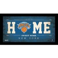 New York Knicks 6x12 Home Sweet Home Sign