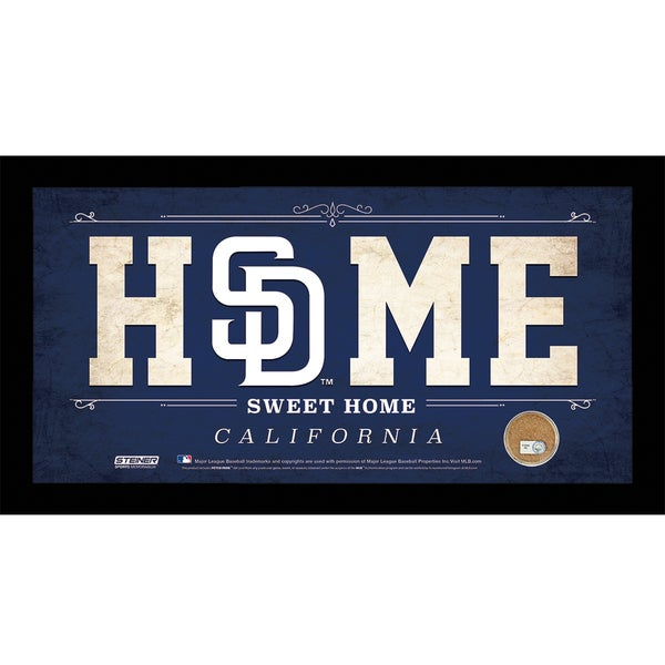 San Diego Padres 10x20 Home Sweet Home Sign with Game-Used Dirt from Petco Park