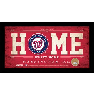 Washington Nationals 10x20 Home Sweet Home Sign with Game-Used Dirt from Nationals Park
