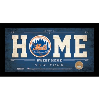 New York Mets 10x20 Home Sweet Home Sign with Game-Used Dirt from Citi Field