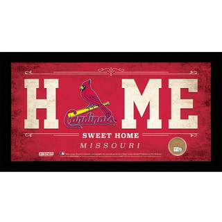 St. Louis Cardinals 10x20 Home Sweet Home Sign with Game-Used Dirt from Busch Stadium