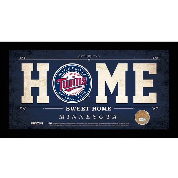 Minnesota Twins 10x20 Home Sweet Home Sign with Game-Used Dirt from Target Field