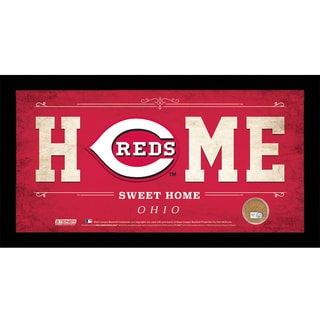Cincinnati Reds 10x20 Home Sweet Home Sign with Game-Used Dirt from Great American Ball Park