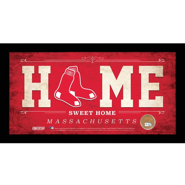 Boston Red Sox 10x20 Home Sweet Home Sign with Game-Used Dirt from Fenway Park