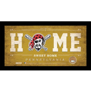 Pittsburgh Pirates 6x12 Home Sweet Home Sign with Game-Used Dirt from PNC Park