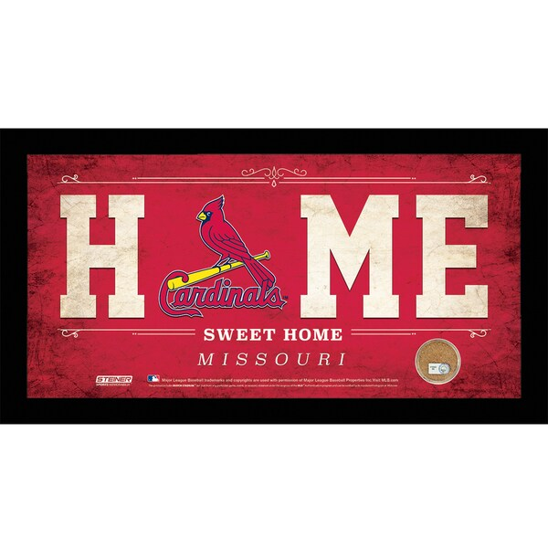 St. Louis Cardinals 6x12 Home Sweet Home Sign with Game-Used Dirt from Busch Stadium