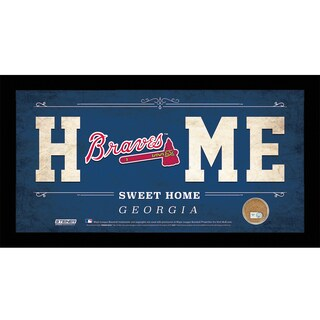 Atlanta Braves 6x12 Home Sweet Home Sign with Game-Used Dirt from Turner Field