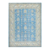Herat Oriental Afghan Hand-knotted Tribal Vegetable Dye Oushak Wool Rug (8'10 x 11'10) - 8'10 x 11'10
