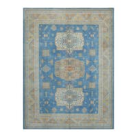 Herat Oriental Afghan Hand-knotted Tribal Vegetable Dye Oushak Wool Rug (8'11 x 12') - 8'11 x 12'