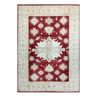 Herat Oriental Afghan Hand-knotted Tribal Vegetable Dye Oushak Wool Rug (9'9 x 13'9)