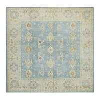 Herat Oriental Afghan Hand-knotted Tribal Vegetable Dye Oushak Wool Rug (8'9 x 8'9) - 8'9 x 8'9