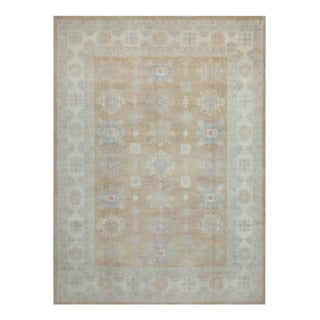 Herat Oriental Afghan Hand-knotted Tribal Vegetable Dye Oushak Wool Rug (10' x 13'8)