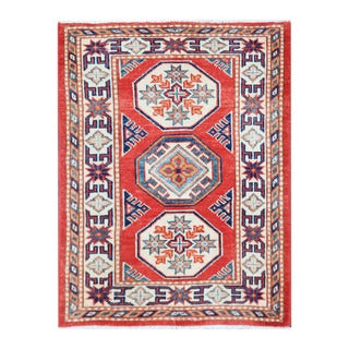 Herat Oriental Afghan Hand-knotted Tribal Vegetable Dye Super Kazak Wool Rug (2'1 x 2'9)