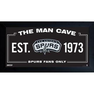 San Antonio Spurs Man Cave Sign 10x20 Framed Photo