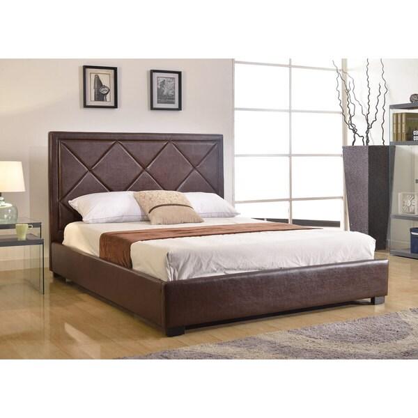 Shop Abbyson Living Sonoma Brown Leather Platform