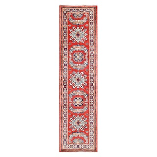 Herat Oriental Afghan Hand-knotted Tribal Vegetable Dye Super Kazak Wool Runner (2'7 x 10)