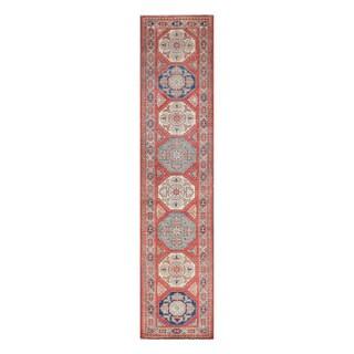 Herat Oriental Afghan Hand-knotted Tribal Vegetable Dye Super Kazak Wool Runner (2'6 x 11)