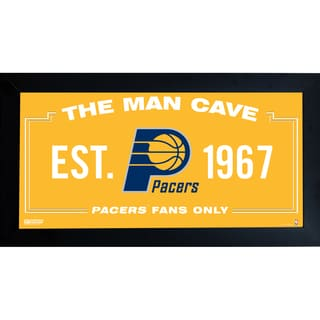 Indiana Pacers Man Cave Sign 10x20 Framed Photo
