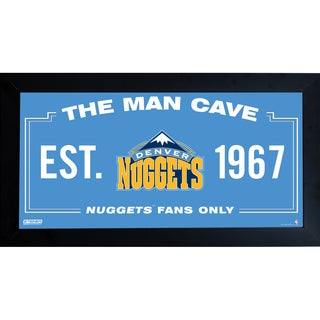 Denver Nuggets Man Cave Sign 10x20 Framed Photo