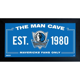 Dallas Mavericks Man Cave Sign 10x20 Framed Photo