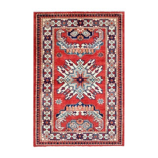 Handmade Vegetable Dye Super Kazak Wool Rug (Afghanistan) - 2'5 x 3'8